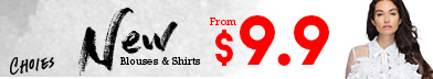 Strat From $9.9 For The New Blouses And Shirts In Choies,Shop Now