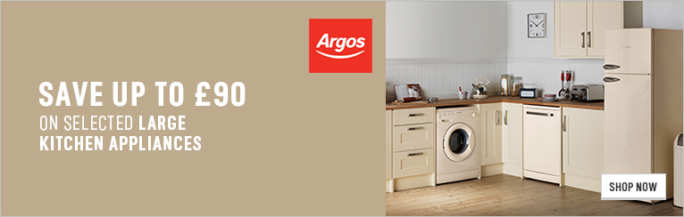 Promotion Core 8 ' Save up to £90 on selected large kitchen appliances' - 468x60