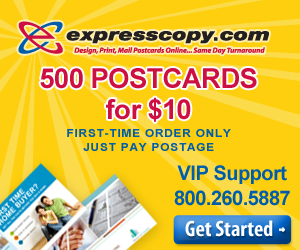 500 Postcards for $10 - expresscopy.com