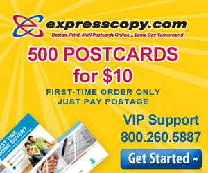 500 Postcards for $10 - expresscopy.com