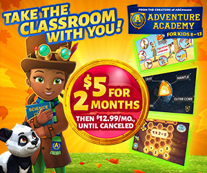 Get 2 Months of Adventure Academy for $5!