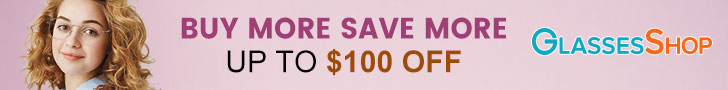 Buy more save more, $100 off on orders $249+ with Code FEB100 at GlassesShop.com. Offer expires 03/0