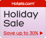 Holiday Sale: Enter a winter wonderland of savings. Save up to 30%! Book by 12/31/12, Travel by 1/7/13