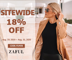Extra 18% off sitewide at ZAFUL