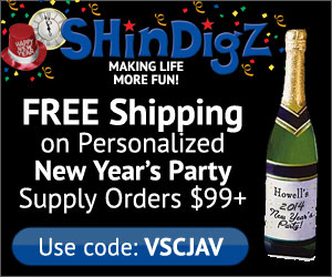 Free Shipping on New Year's Party Supplies!