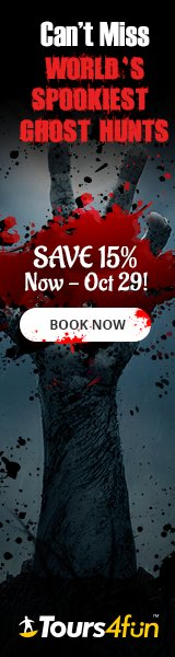 Tours4Fun World's Spookiest Ghost Hunts - Up to 15% off Halloween Spooktacular Tours!