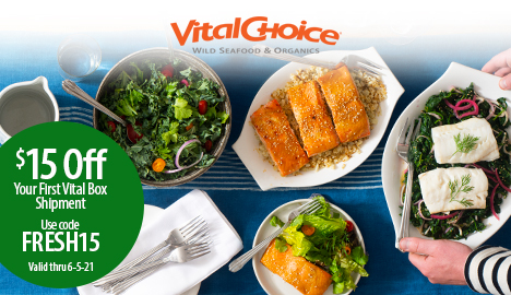 Limited Time Savings On Vital Box From Vital Choice! Save $15 On Your 1st Vital Box Order