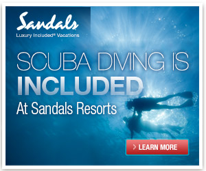 Scuba is included at all Sandals Resorts