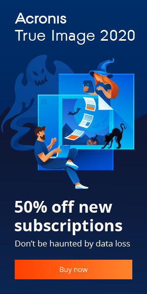 Acronis True Image 2020 Discount Coupon Code 50% OFF