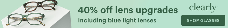 Save 40% off lens upgrades at Clearly with code: LENSUP40
