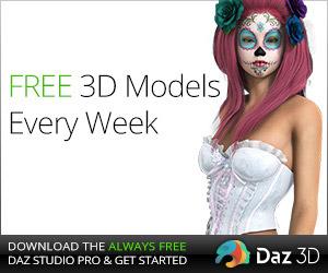DAZ Studio FREE 3D MODELS AND SOFTWARE