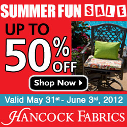 Hancock Fabrics April Showers Sale