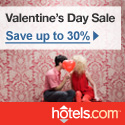 Valentine's Day Sale: Save up to 30% at hotels.com! Book by 11:59pm CST 2/14/12