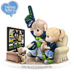 Precious Moments Seattle Seahawks Fan Porcelain Figurine