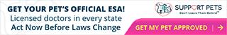 320x50 Get Your Pet's Official ESA