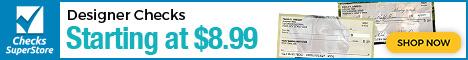 Designer Checks As Low as $8.99 per Box at Checks Superstore! Shop Now!