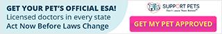 320x50 Get Your Pet's Official ESA!
