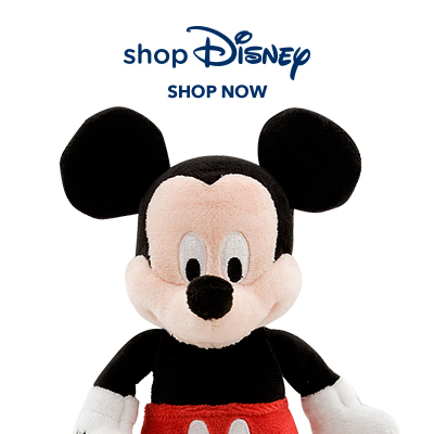 shopDisney store with plush mickey mouse