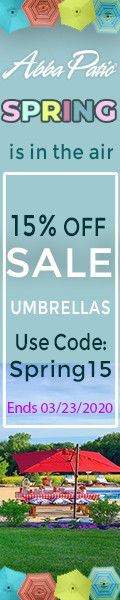 Spring Sale! 15% Off All Umbrella & Umbrella Base! Code: spring15. Ends 03/23/2020.