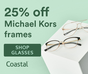 Save 25% off Michael Kors frames at Coastal with code: MK25