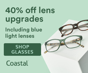 Save 40% off lens upgrades at Coastal with code: LENSUP40