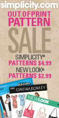 Simplicity and New Look Out of Print Pattern Sale