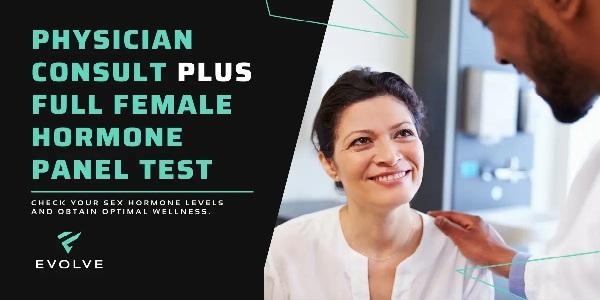 Physician Consult + Full Female Hormone Panel Test (600x300)
