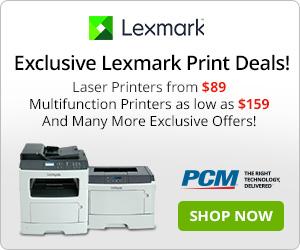 Lexmark Print Deals 300x250