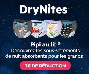 bon de réduction Drynites 3€