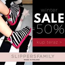 Winter sale -50% na Slippersfamily.com