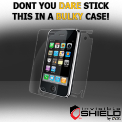 Get Free Shipping on Apple iPhone 3 G Cases -  (invisibleSHIELD) at ZAGG.com