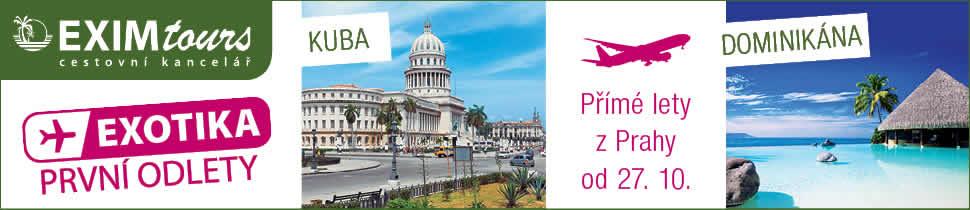 EXIMtours - Exotika: Kuba / Dominikána od 34 790 Kč