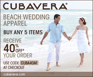 CUBAVERA 300X250 Beach Wedding Apparel 40% Off