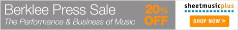 Berklee Press Sheet Music - 20% off