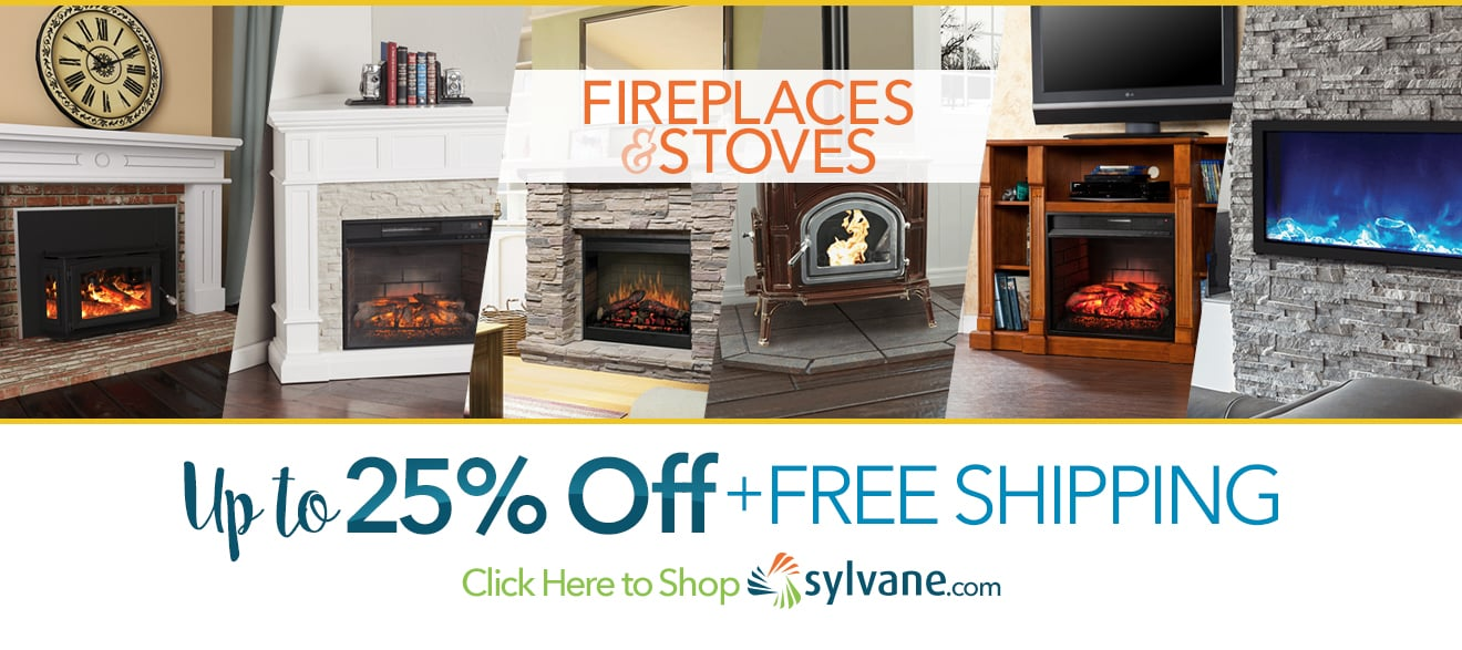 Fireplaces & Stoves Up To 25% Off @  Sylvane.com