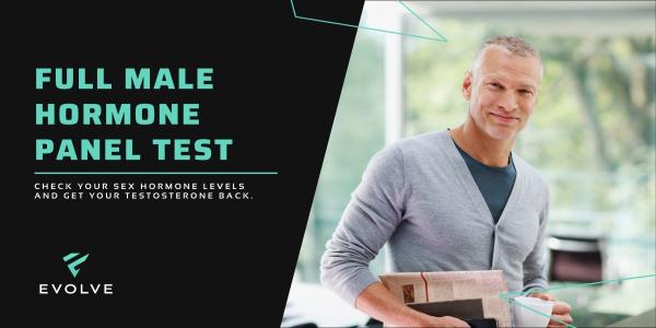 EVOLVE Full Male Hormone Panel Test