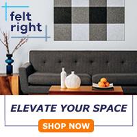 Beautiful Designer Tiles From Felt Right