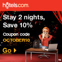 Stay 2 nights, save 10%! Enter OCTOBER10 at checkout. - Expires 10/10/10