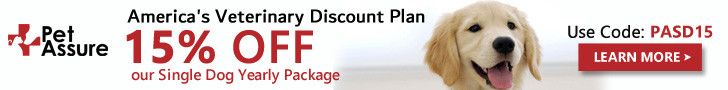15% OFF Our Single Dog Yearly Package 728x90