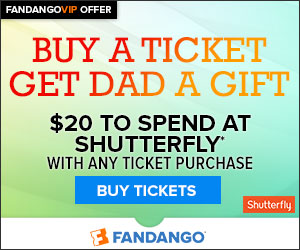 Father's Day $20 Shutterfly Ticket Offer