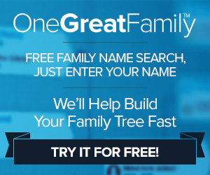 300x250 Free Genealogy Search blue