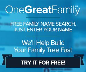300x250 Free Genealogy Search blue