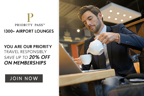 Up to 20% off on all Priority Pass annual memberships