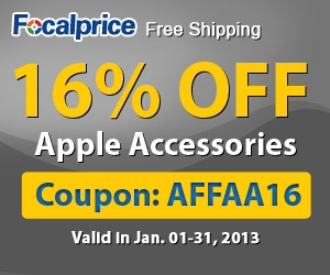 16% off Category Apple Accessory, code: AFFAA16