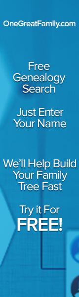 160x600 Free Genealogy Search blue