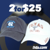 NCAA Hats 2 for $25 on Select Styles at lids.com!