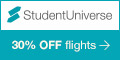 Up to 30% off StudentUniverse flights