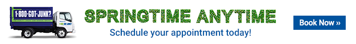Springtime Anytime. Schedule your appointment with 1-800-GOT-JUNK? today!
