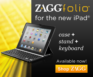 invisibleSHIELD ZAGGfolio for the new iPad: Case + Stand + Keyboard!
