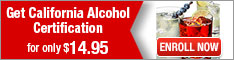 Learn2Serve- Get California Alcohol Certification for $14.95 234x60